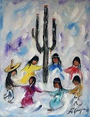 """Saguaro Dancers"" (DeGrazia Gallery in the Sun) Tags: arizona cactus ted architecture children artist gallery dancers artgallery tucson paintings az adobe oil saguaro degrazia ninos catalinas ettore nationalhistoricdistrict galleryinthesun"