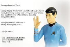 Seinfeld #13: The Foundation (Squatbetty) Tags: startrek nerd geek geeks spock vulcan leonardnimoy seinfeld mrspock thefoundation geekporn georgecostanza livelongandprosper jerryseinfeld thewrathofkhan jewishhumour ashowaboutnothing vulcansalute thesearchforspock