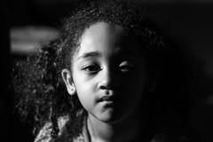 The Dark Child (Jack Incredable) Tags: portrait blackandwhite girl blackwhite sony blackhair