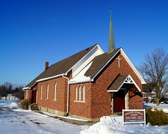 Emmanuel Lutheran Church (haunted snowfort) Tags: ontario canada church worship cross niagara lincoln lutheran georgestreet emmanuel sundayschool lutheranchurch beamsville ontariuo emmanuellutheranchurch worshipservices reverandrobertbrown