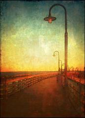 Pier in Rye NY (elsa.brenner) Tags: sunset pier boardwalk longislandsound lamplights