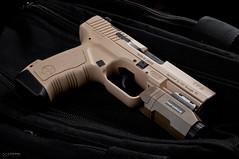 _DSC2170 (Staufhammer) Tags: light black magazine photography 50mm nikon gun desert tan weapon pistol guns handgun clone product copy weapons firearm firearms walther apl d300 18d p99 nikon50mmf18d inforce fde tp9 nikond300 canik canik55 staufhammer