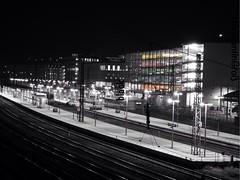 Aschaffenburg Bahnhof (ConstiAB) Tags: night train germany bayern deutschland nacht bahnhof sw bahn centralstation aschaffenburg uploaded:by=flickrmobile flickriosapp:filter=nofilter aschaffenburghauptbahnhof