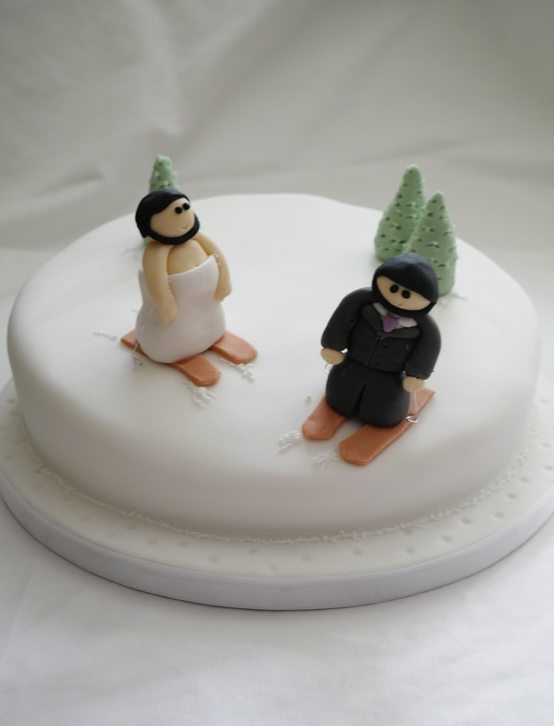 Skiing Wedding Cake There For The Baking Tags Ski Groom Bride