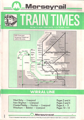 Merseyrail Wirral Line Timetable From 15th May 1989 Until 1st October 1989 (Luke O'Rourke) Tags: liverpool map birkenhead southport timetable wirral merseyside merseyrail