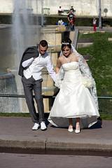 Just married in Paris (Irene TP) Tags: paris marriage toureiffel matrimonio parigi sposi