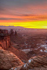 Sunrise at Canyonlands National Park (Vineeth Mekkat) Tags: terrain usa mountain sunrise utah nationalpark nikon roadtrip canyonlandsnationalpark nikkor hdr highdynamicrange rugged lightroom mesaarch photomatix tonemapping ruggedterrain anawesomeshot nikkor2470mm nikond610