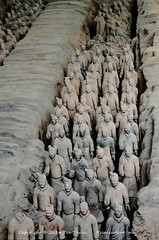 Terracotta soldiers (Tex Texin) Tags: china museum terracotta exhibit xian clay soldiers terra cotta excavatioon