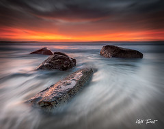 Merewether - Re-edit (Kiall Frost) Tags: blur beach water sunrise newcastle landscape flow photo movement australia colourful merewether surfhouse kiallfrost