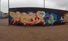 Arabian katutaidesein 2014 (Supafly Helsinki street art office) Tags: streetart color art suomi graffiti helsinki colorful spray urbanart arabia spraypaint hel kiva street graffitiwall art katutaide supafly nuorisotalo vesivaneri nuorisoasiainkeskus