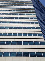 Square, triangle, cross, circle (stevenbrandist) Tags: italy building window skyscraper circle square triangle italia cross shapes genoa genova tall