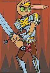 Sharp Fancy Armor (T') Tags: rabbit ink sharp illustrator characterdesign delvedeep