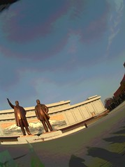 Autographer in North Korea | Mansudae Grand Monument (julia_e) Tags: monument north grand wearable northkorea pyongyang dprk northkorean mansudae wearabletech autographer