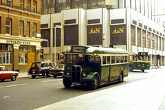 Slide 032-33 (Steve Guess) Tags: street uk england bus green london westminster transport victoria gb regal aec t792