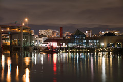 OMSI (Curtis Gregory Perry) Tags: portland oregon omsi willamette river reflection color water night pdx longexposure marquam bridge museum science industry colorful nikon d810 central eastside industrial district interstate 5 five submarine sub