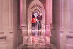 Love (Geoff Livingston) Tags: couple love engagement marriage tunnel marble floor married