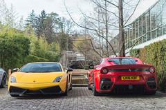 Italians (Beyond Speed) Tags: lamborghini gallardo superleggera ferrari f12 tdf f12tdf supercar supercars car cars automotive automobili nikon v12 v10 red yellow geneva geneva2017 switzerland