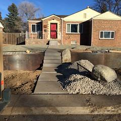 1330 Project in progress (pr_things) Tags: landscape design retainingwall cortensteel stone concrete modern mayfair denver