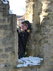 Construction Inspection (mdavidford) Tags: winter snow window stone wall abingdon folly inspect abbeygrounds trendellsfolly