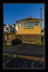 Signal Box at Instow (Travels with a dog and a Camera :)) Tags: uk england southwest west art digital photoshop spring pentax unitedkingdom box south north railway andrew devon april signal bennett 44 k5 signalbox lightroom northdevon instow andrewbennett cs6 2013 justpentax pentaxart pentaxk5 photoshopcs6 lightroom44