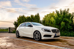 mercedes a200 amg (Dee Loo) Tags: white car mercedes nikon a200 amg aclass d4 nightpackage