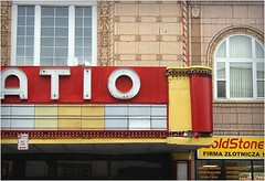 patio theater (BalineseCat) Tags: park chicago facade movie marquee theater palace patio portage