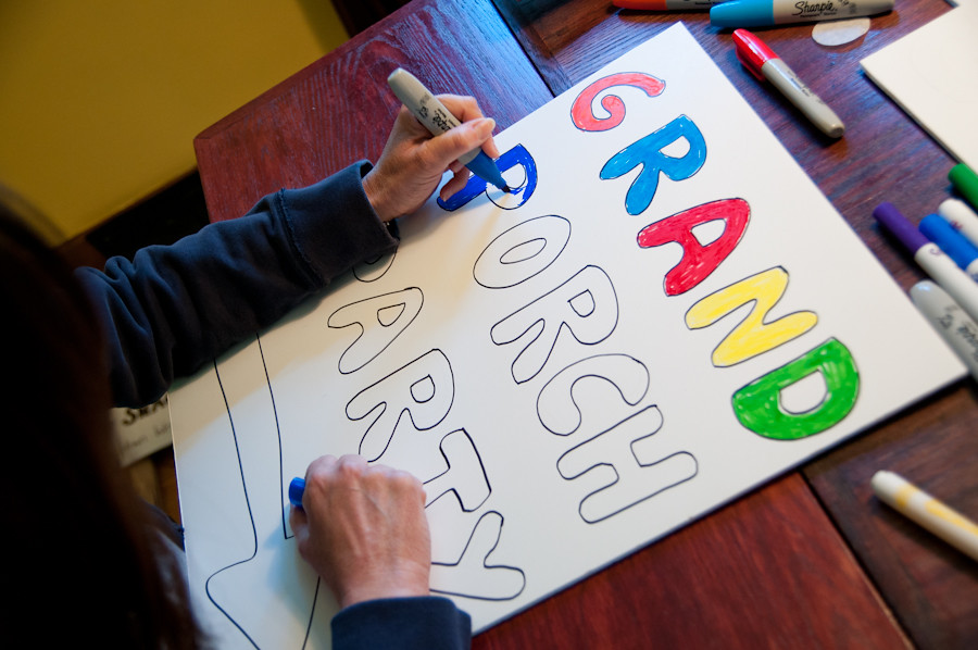 GPP volunteer sign making 017