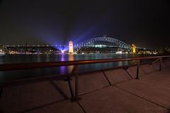 lit bridge (Sven Lindroos) Tags: bridge house lights opera harbour sydney vivid