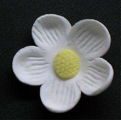 Small Blossom No wire White 3cm (sweetinspirationsaustralia) Tags: cupcaketoppers