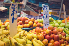 One euro shopping (@spor) Tags: ireland red dublin green yellow fruit one pears market euro apples