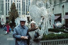 New York Rockefeller Centre Dec 1990 004 Geoff & Jean Spafford (photographer695) Tags: new york ice centre skating dec rockefeller 1990