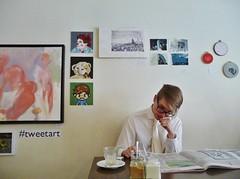 #tweetart!! (BLTP Photo) Tags: boy man art coffee leeds tie lad laynes 52weeks tweetart 242013