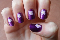 Purple flower nails (jana7800) Tags: new nyc pink light baby hot london art yellow glitter print design hands pattern purple pastel nail fingers lavender dot dotted nails lilac cupcake dots nailpolish shimmer nailart bellini rimmel catrice