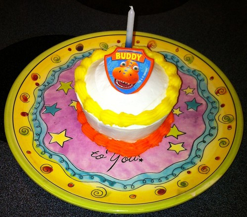 Admirable Dinosaur Train Birthday Cake A Photo On Flickriver Personalised Birthday Cards Veneteletsinfo