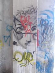 Immagine 057 (en-ri) Tags: muro wall writing torino graffiti viso faccia volto guance qyr