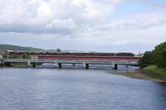 Inv12028 37685 1H80 0845 Kyle-Carrbridge 130612 (retbsignalman) Tags: inverness waterloobridge riverness royalscotsman class37 37685 wcrc nessviaduct