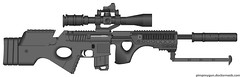 Old pmg m4 spr custom work ([M&B Firearms designer] --Hawkeye) Tags: rifle sniper 06 pmg snipe pimpmygun