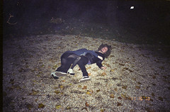 New York - Diary (JeffWellerPhotography) Tags: city nyc party portrait newyork fall film grass night 35mm couple stones diary ground tights stamp falling heels vans date tackle 2010 dated laves jeffweller