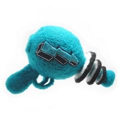 raygun (NeedleNoodles) Tags: blue felted diy knitting pattern knit craft scifi laser pdf etsy futuristic raygun rayguns lasergun fulled needlenoodles