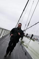 ITV Weatherman - Jon Mitchell (Lee Collings Photography) Tags: people weather calendar running famouspeople raining humberbridge weatherman gettingwet jonmitchell wetweather tvcelebs calendarweatherman