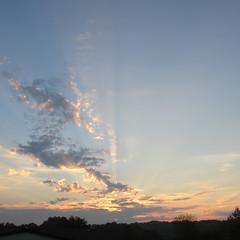 Michigan sunrise (creed_400) Tags: light summer sky west clouds sunrise dawn belmont michigan august rays