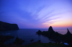 Purple Sunset in Oki-Island (Yohsuke_NIKON_Japan) Tags: ocean sunset sea nature japan island purple shimane dust oki magichour d600 japansea  1635mm   nanocrystalcoat