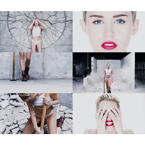 Wrecking Ball #MileyCyrus #WreckingBall #video #new #likeforfollow #amazing #proud #idol #night