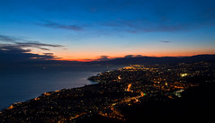 Genova - Monte Moro (EXPLORED) (Matteo Nebiacolombo) Tags: sunset tramont