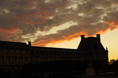 Sunset on the Louvre - Paris