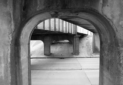 Railroad & Utility Overpasses, Red Bluff Rd, Pasadena, Texas 1311070965BW (Patrick Feller) Tags: road county railroad bridge red underpass concrete texas steel overpass utility pony harris pasadena pipeline bluff riveted pontist