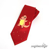 Hand-Painted Charmander Pokemon Necktie (magicbeanbuyer) Tags: wedding red game anime men nerd fire groom geek handmade cartoon tie flame gamer handpainted pokemon videogame kitschy groomsmen necktie geeky nerdy accessory charmander magicbeanbuyer