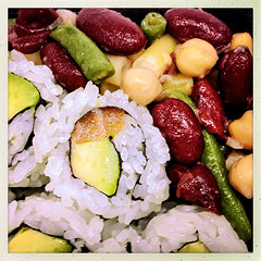 Alaska Rolls & Three Bean Salad (Evan MacPhail Photography) Tags: evan food alaska sushi photography photo photos roll rolls petes nami macphail frootique hipstamatic evanmacphailphotography