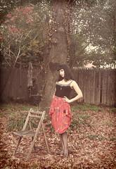scorpiomain (melina bee) Tags: red outfit scorpio heels hosiery astrology skirts