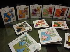 Ma dernière série de cartes (Julie Savard) Tags: collage butterfly origami papillon card greetingcard carte bricolage juliesavard
